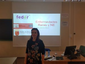 Doria Peñalver en la Universidad de Murcia