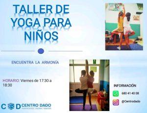 Imagen del cartel del taller de yoga de este año.