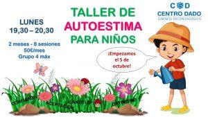 Imagen del cartel del Taller de Autoestima de Centro DADO.
